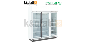 Kerry 3 Doors Swing Glass Chiller Inverter