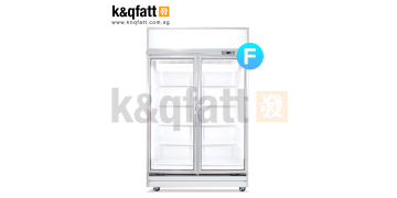 YUDA 2-doors Swing Glass Freezer