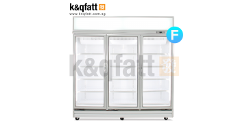 YUDA 3 Doors Swing Glass Freezer