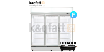 YUDA 3 Doors Swing Glass Freezer Hitachi Compressor