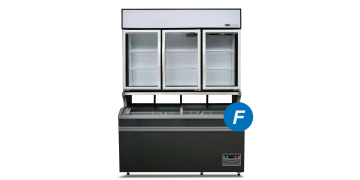 Plug-in Combined Freezer 3-doors (Compact)