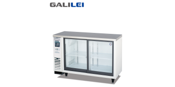 FUKUSHIMA GALILEI Stainless Steel Under-counter Sliding Glass 2-doors Chiller