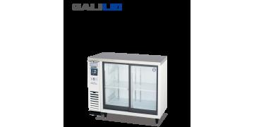 FUKUSHIMA GALILEI Stainless Steel Under-counter Sliding Glass 2-doors Chiller