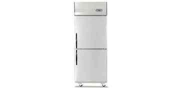 YUDA Stainless Steel Upright 2 Doors Freezer
